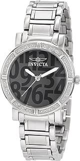 Invicta 10676 Reloj para Mujer, Análogo, color Gris y Plata