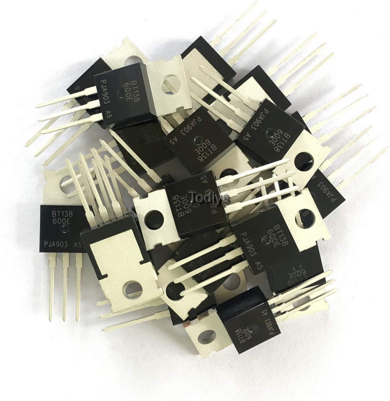 Todiys New 20Pcs for BT138 Albuquerque Mall BT138-600 Triacs 600V TO-220 Thyr 12A Sale special price