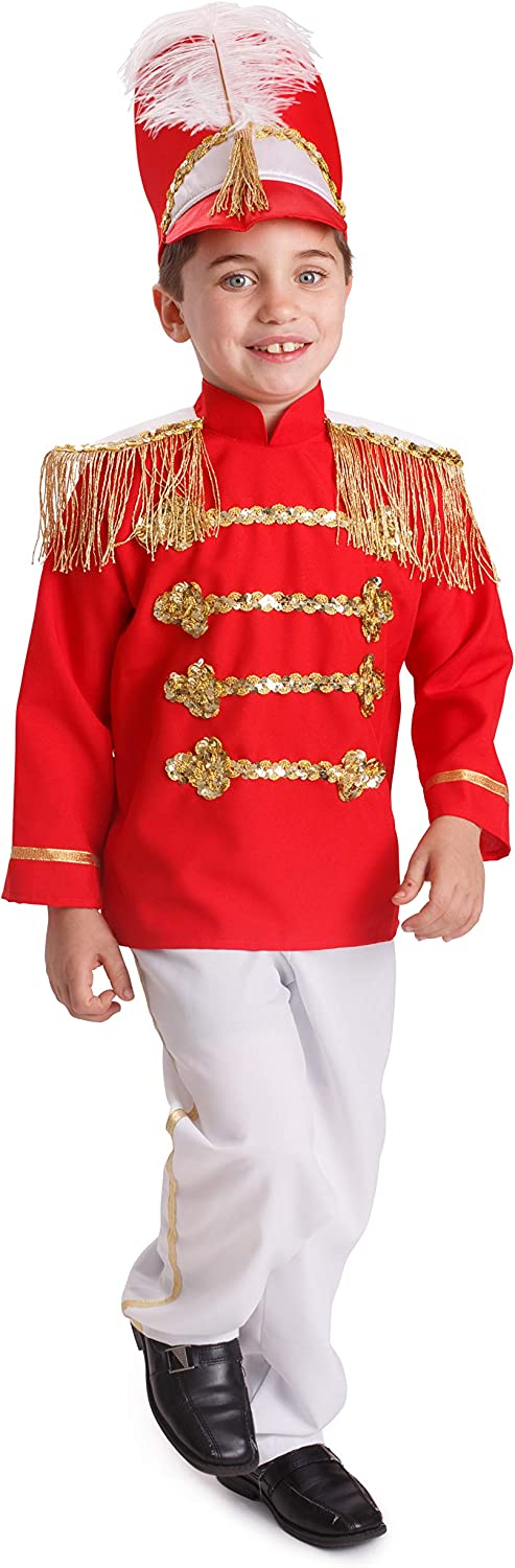 Dress 2021 autumn and winter new Detroit Mall Up America Drum Major Costume Marching - for Kids Red Band