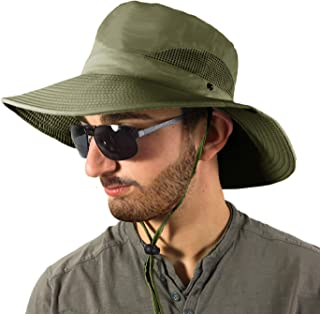297f4a66419fe8 TOSKATOK Unisex Mens Ladies Lightweight Foldable Mesh Breathable Wide Brim  Outback Summer Safari Hat Cap with
