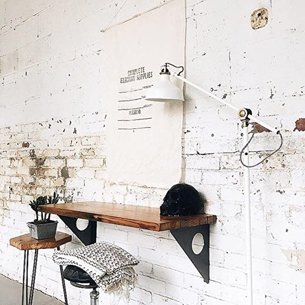 Industrial Rustic Wall Mounted Table Dining Table Desk Pine Wood Wall Mounted Bar Tables 47 X14