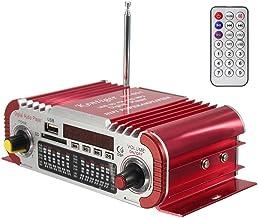 DollaTek DC 12V 2 Canales Hi-fi Mini Motocicleta Digital Auto Car Estéreo Amplificador de Potencia Modo de Sonido Audio Reproductor de música Soporte USB/FM/SD - Rojo