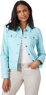 Riders by Lee Indigo Women's Denim Jacket, Aqua Haze, Medium