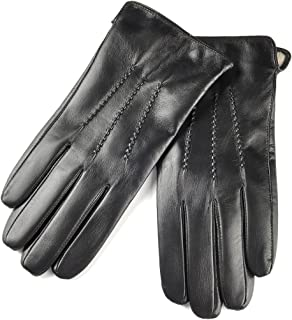 SIEFERSN Classic Style Men's Lambskin Gloves Whole Hands Touchscreen Winter Warm Leather Gloves 1154225011