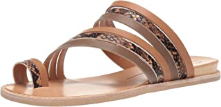 Dolce Vita Women's Nelly Flat Sandal, tan Multi Leather, 5.5 M US