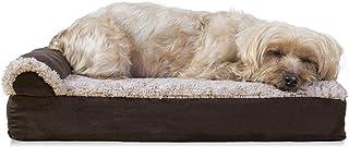Furhaven Pet - Plush Orthopedic Sofa, L-Shaped Chaise Couch, Ergonomic Contour Mattress, & Long Faux Fur Calming Donut Dog...
