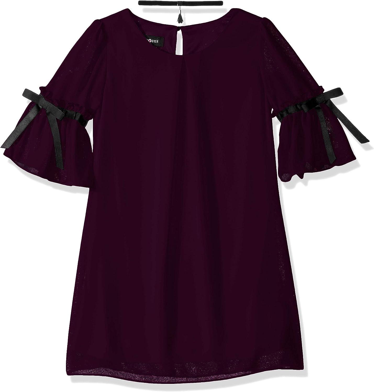 Amy Byer Girls' Big Mid-Sleeve Sheath Dress
