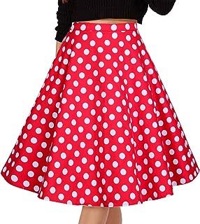 Women's Pleated Skirts Print Casual Midi Skirt