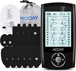 Tens Unit Muscle Stimulator, HODAY Dual Channel TENS EMS Unit 24 Modes for Pain Relief Therapy, Rechargeable Electronic Pu...