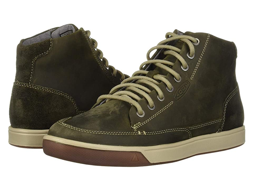 ffc04d3a5a36 Keen Glenhaven Sneaker Mid (Dark Olive Black Olive) Men s Lace up casual  Shoes