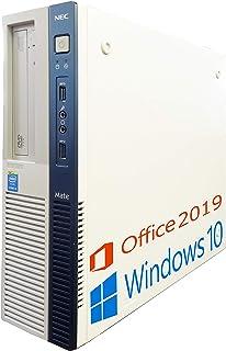 NEC デスクトップPC MB-J/MS Office 2019/Win 10/Core i5-4570/WIFI/DVD-RW/4GB/256GB SSD (整備済み品)