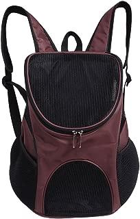 Portable Pet Shoulder Bag Breathable Pet Backpack Outdoor Travel Carrier for Pet Dog Cat Rabbit(Coffee)
