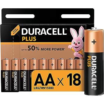 Duracell - Plus AA, Batterie Stilo Alcaline, confezione da 18 ad apertura semplificata, 1.5 volt LR06 MX1500