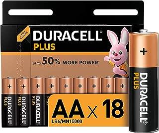 Duracell Plus AA Alkaline Batteries, Pack of 18, 1.5 V LR06 MX1500