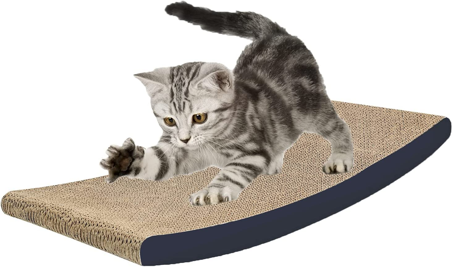 GROOBOLL Cat Scratcher National products Cardboard Lounge Wood Bed Solid with In a popularity Fram