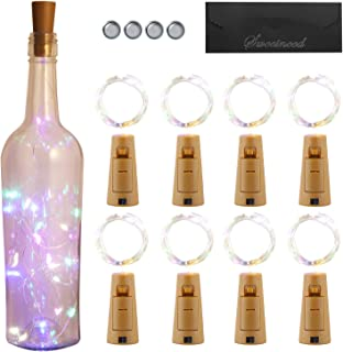Sweetneed Luz de Botella Luz de bricolaje,Luz Ambiente,Lámpara Decorada Luz Corcho 2m 20 LED a Pilas Decorativas Cobre Luz Para Romántico Boda, Navidad,Fiesta,Lámpara de Alambre de Cobre