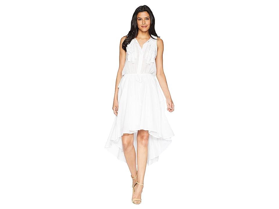 Kenneth Cole New York Crochet Trim Dress (White) Women