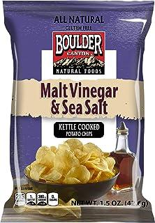Boulder Canyon, Malt & Vinegar Kettle Cooked Potato Chips, 1.5 oz. (55 Count)