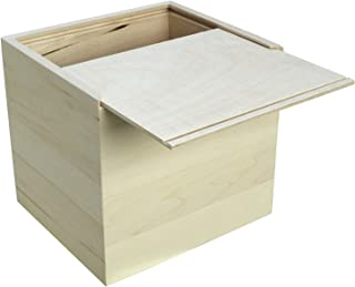 Walnut Hollow Unfinished Wood Card Keeper Box for Arts, Crafts and Home Decor