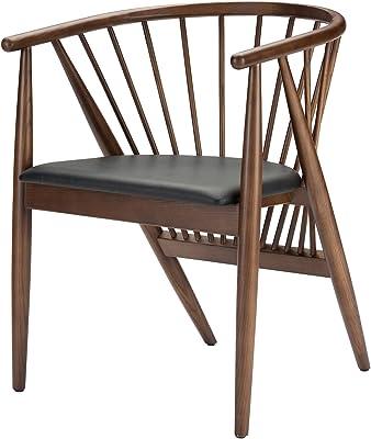 Nuevo Danson Dining Chair in Black and Walnut Finish