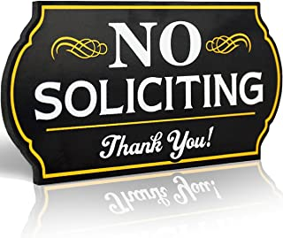 Attractive No Soliciting Metal Sign for Home and Business   6