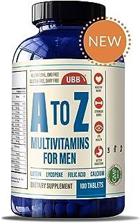 A to Z Multivitamin and Multimineral Supplment for Men - Vitamins A C D E K B1 B2 B6 B12. Magnesium, Calcium Biotin, Potas...