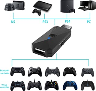 EJGAME Controller Adapter, Converter for PS4/PS3/Nintendo Switch/PC,Makes PS4/Xbox/Nintendo Switch Controllers Compatible with Your PS4/PS3/Nintendo Switch/PC Console