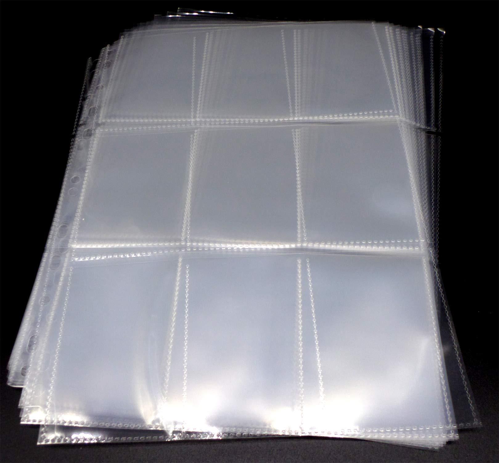 100 Docsmagic.de 18-Pocket Pages Black Toploading 3-Ring Album Ordnerseiten