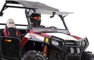SuperATV Heavy Duty Scratch Resistant 3-IN-1 Flip Windshield for Polaris RZR 800/800 S / 800 4 / XP 900/570 / 900 4 (See Fitment for Compatible Years) - Has 3 Different Settings!