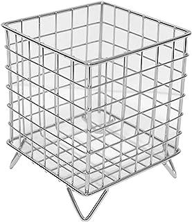 XIXIAO Boîte de Rangement Pliable Panier de rangement carré à quatre pieds en fer forgé de style nordique Maison Décoratio...