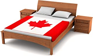 Fuzzy FlagsTM Fleece Canadian Flag Blanket - 80-inches x 50-inches Oversized Flag of Canada Travel Throw Cover l'Unifolié
