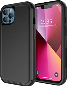 Diverbox for iPhone 13 Pro case [Shockproof] [Dropproof] [Dust-Proof],Heavy Duty Protection Phone Case Cover for Apple iPhone 13 Pro (Black)