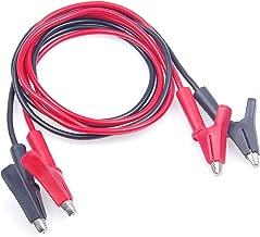 KNACRO 8A 3KV Test Wire 1.6MM² High Voltage Test Wire Alligator clip 0.5m / 1.65ft Red & Black