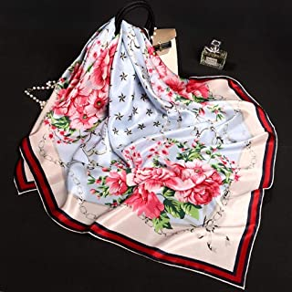 YANGBM 100% Silk Scarf Ms. Silk Scarf Anti-Static Anti-Allergic Gift Box Packaging Mother's Day (Color : E)