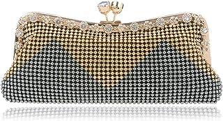 Women's Clutch Bag,Glitter Beaded Rhinestone Evening Bag Bridal Wedding Bag Handbag Prom Bag Purse,Gray,5 * 26 * 11cm