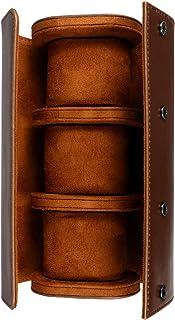 POPETPOP Watch Roll Travel Case 3 Watch Display Storage Watch Case Display Organizer and Storage Jewelry Box 3-Slots Watch...