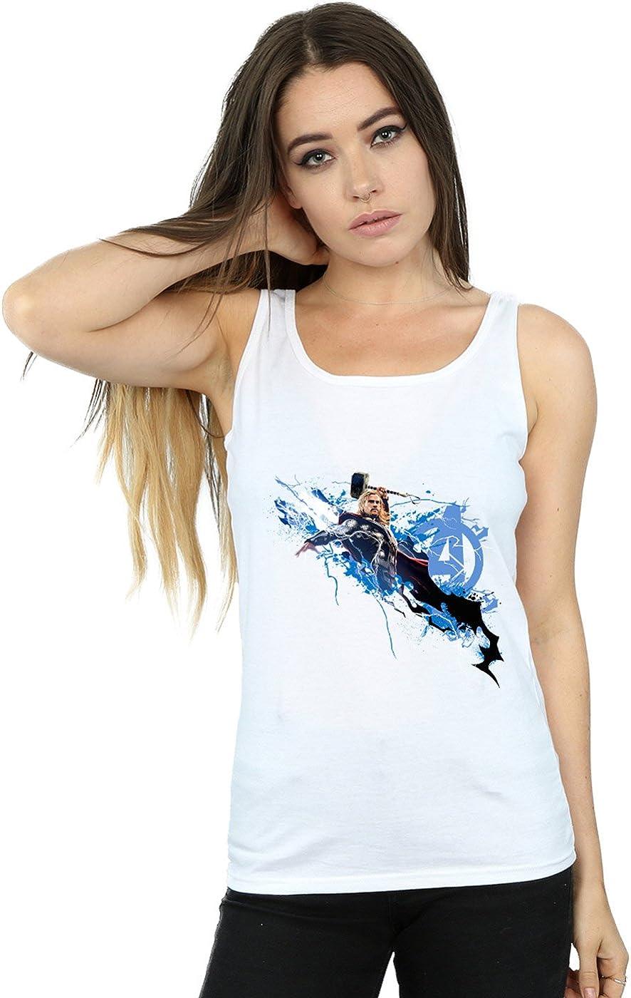 Marvel Mujer Avengers Thor Splash Camiseta Sin Mangas: Amazon ...
