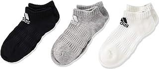adidas Men's Cush Low 3pp No Show Socks, Grey (Medium Grey Heather/White/Black), 8.5-10