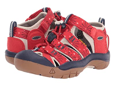 Keen Kids Newport H2 (Toddler/Little Kid) (Fiery Red/Blue Depths) Kids Shoes