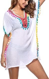 Womens Bathing Suit Cover Ups Swimwear Tassel Crochet Swimsuit Bikini Beach Cover Ups