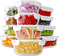 Bayco 24 Piece Glass Food Storage Containers with Lids, Glass Meal Prep Containers, Airtight Glass Lunch Bento Boxes, BPA ...