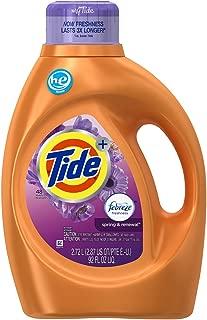 Tide Plus Febreze Freshness High Efficiency Liquid Laundry Detergent, Spring & Renewal - 92 oz