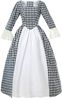 Nuoqi Women Civil War Victorian Dress Costume American Pioneer Colonial Prairie Dress