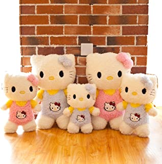 My Super Star Hello Kitty Plush Toys Dolls,Baby Girls Toys, 3 sizes 14'' 18'' 24'',Pink Blue color, (Pink, 18'')