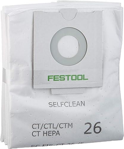 2021 Festool online 496187 Selfclean Filter Bag For CT outlet sale 26, Quantity 5 outlet sale