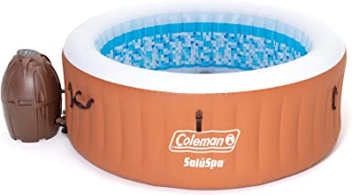 Coleman 90455 SaluSpa Miami Air Jet 4 Person Outdoor Patio Inflatable Hot Tub Spa with Pump and Cover