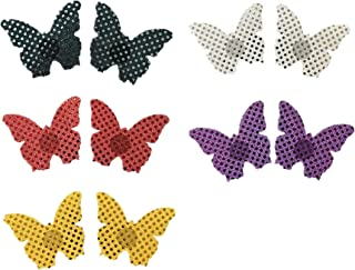 TX-Originality 10 Pairs Pasties Sequin Disposable Nipple Covers Butterfly Design