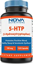 Nova Nutritions 5-HTP 100 mg 120 Capsules - Promotes Positive Mood & Restful Sleep