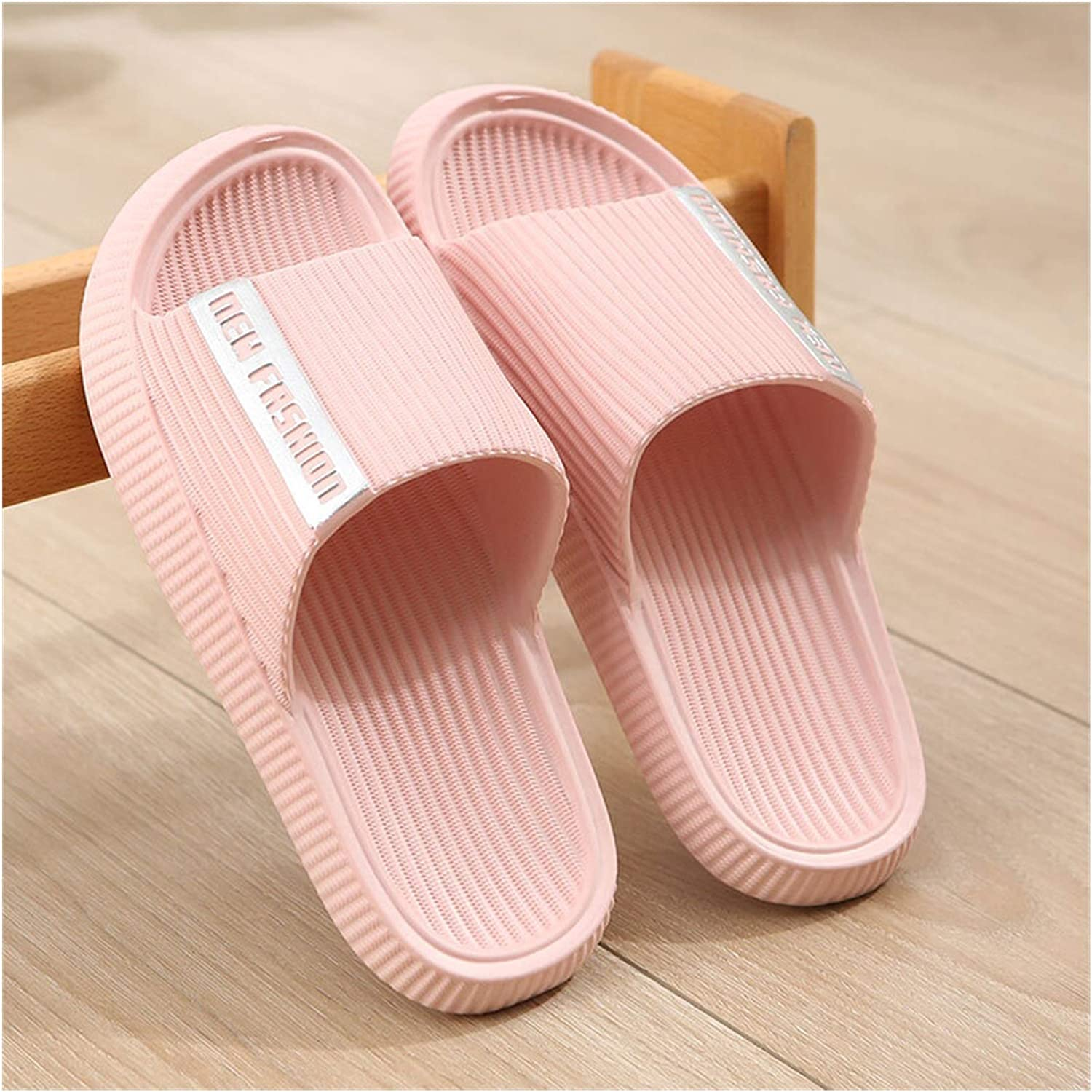 zxb-shop Flip Flop Soft-Soled Sandals and Slippers Summer Lightweight Thick-Soled Men and Women Couples Home Indoor Bathing Bathroom Slides (Color : B, Size : 36/37)