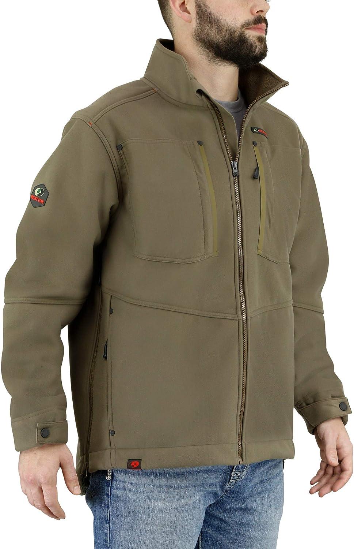 Mossy Oak Mens Sherpa Jacket, Winter Jackets for Men, Mens Fleece Jacket